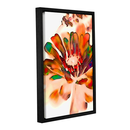 Brushstone Petals In Abstract Gallery Wrapped Floater-Framed Canvas Wall Art