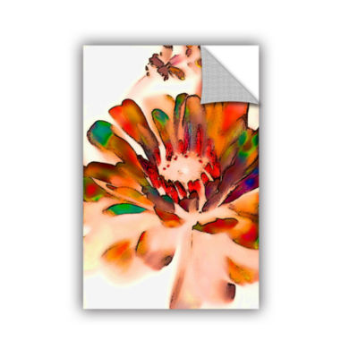 Brushstone Petals In Abstract Removable Wall Decal
