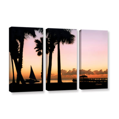 Brushstone Paradise In Nevis West Indies 3-pc. Gallery Wrapped Canvas Wall Art