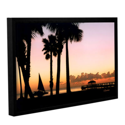 Brushstone Paradise In Nevis West Indies Gallery Wrapped Floater-Framed Canvas Wall Art