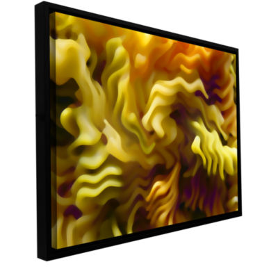 Brushstone Pasta Wave Gallery Wrapped Floater-Framed Canvas Wall Art