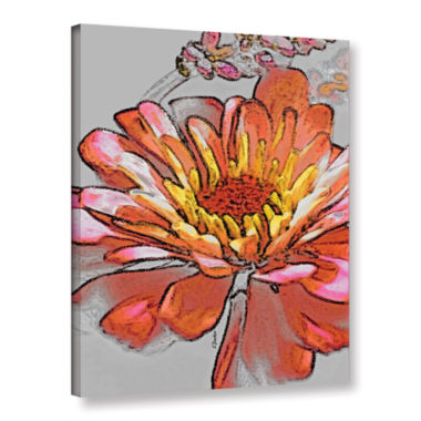 Brushstone Petals In Abstract 2 Gallery Wrapped Canvas Wall Art