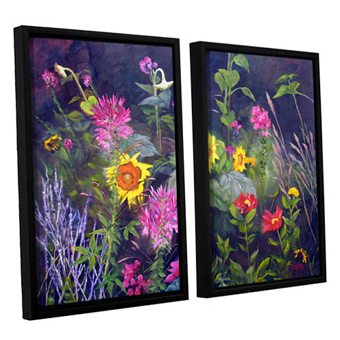 Brushstone Out Of Darkness 2-pc. Floater Framed Canvas Wall Art