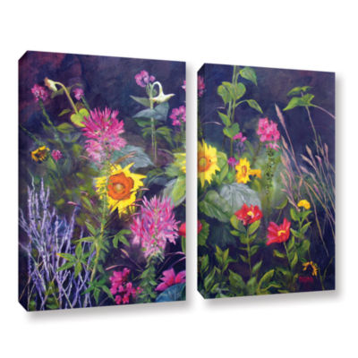 Brushstone Out Of Darkness 2-pc. Gallery Wrapped Canvas Wall Art