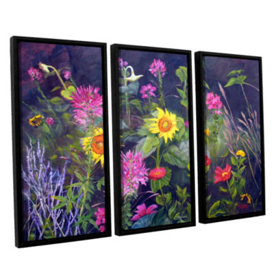 Brushstone Out Of Darkness 3-pc. Floater Framed Canvas Wall Art