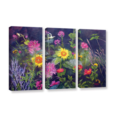 Brushstone Out Of Darkness 3-pc. Gallery Wrapped Canvas Wall Art