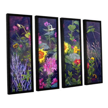 Brushstone Out Of Darkness 4-pc. Floater Framed Canvas Wall Art