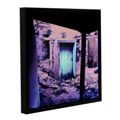 Brushstone Past Through The Door Gallery Wrapped Floater-Framed Canvas Wall Art