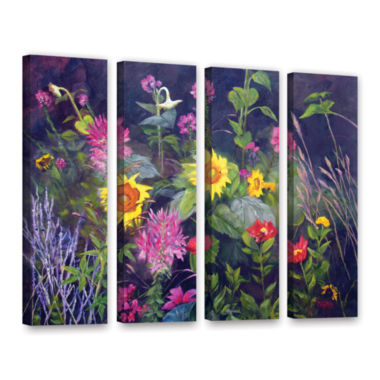 Brushstone Out Of Darkness 4-pc. Gallery Wrapped Canvas Wall Art