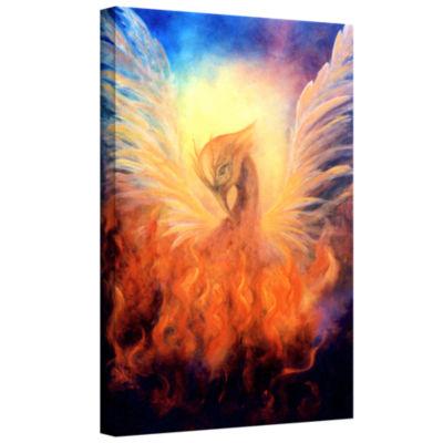 Brushstone Phoenix Gallery Wrapped Canvas Wall Art