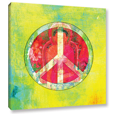 Brushstone Peace Sign Gallery Wrapped Canvas WallArt