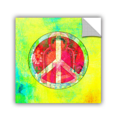Brushstone Peace Sign Removable Wall Decal