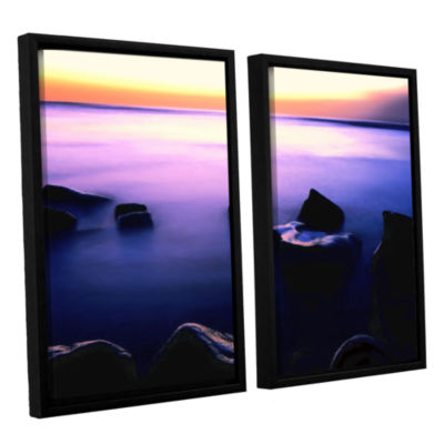 Brushstone Pacific Afterglow 2-pc. Floater FramedCanvas Wall Art