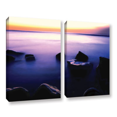 Brushstone Pacific Afterglow 2-pc. Gallery WrappedCanvas Wall Art