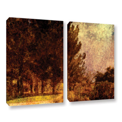 Brushstone Passing 2-pc. Gallery Wrapped Canvas Wall Art