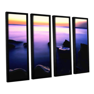 Brushstone Pacific Afterglow 4-pc. Floater FramedCanvas Wall Art