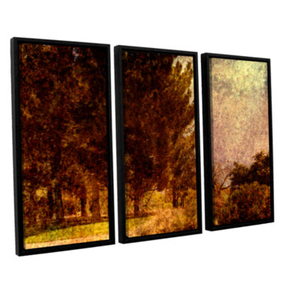 Brushstone Passing 3-pc. Floater Framed Canvas Wall Art