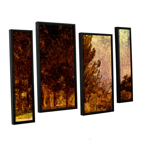 Brushstone Passing 4-pc. Floater Framed StaggeredCanvas Wall Art