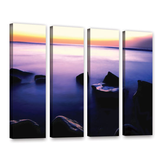 Brushstone Pacific Afterglow 4-pc. Gallery WrappedCanvas Wall Art