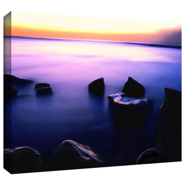 Brushstone Pacific Afterglow Gallery Wrapped Canvas Wall Art