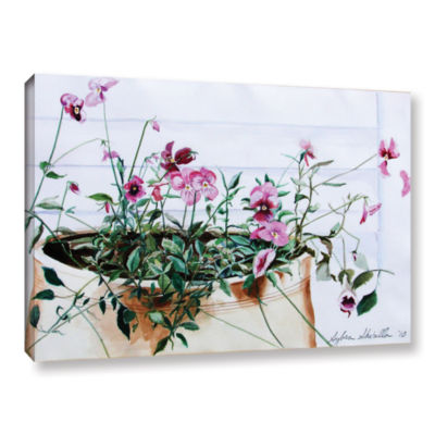 Brushstone Pansies Gallery Wrapped Canvas Wall Art