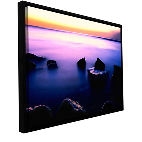 Brushstone Pacific Afterglow Gallery Wrapped Floater-Framed Canvas Wall Art