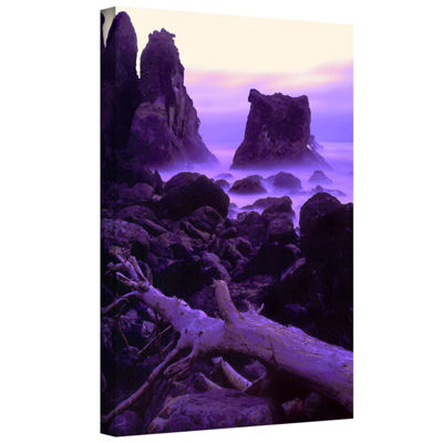 Brushstone Patricks Point Twilight Gallery WrappedCanvas Wall Art
