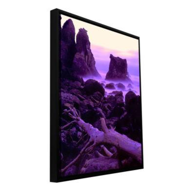 Brushstone Patricks Point Twilight Gallery WrappedFloater-Framed Canvas Wall Art