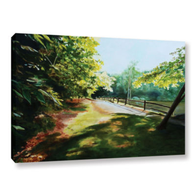 Brushstone Path At Lily Pond 3 Gallery Wrapped Canvas Wall Art