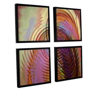 Brushstone Palette Vortex 4-pc. Square Floater Framed Canvas Wall Art