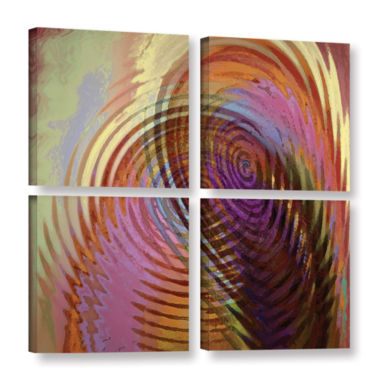 Brushstone Palette Vortex 4-pc. Square Gallery Wrapped Canvas Wall Art