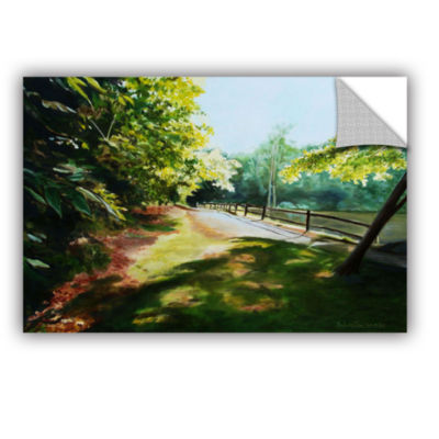 Brushstone Path At Lily Pond 3 Removable Wall Decal