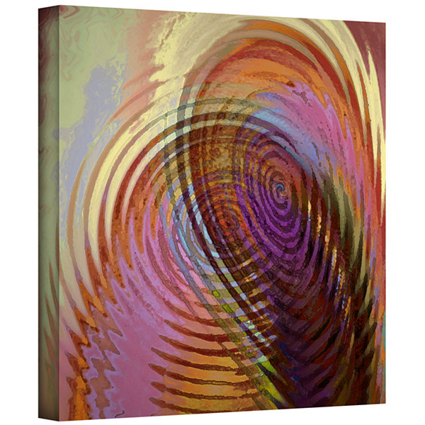 Brushstone Palette Vortex Gallery Wrapped Canvas Wall Art