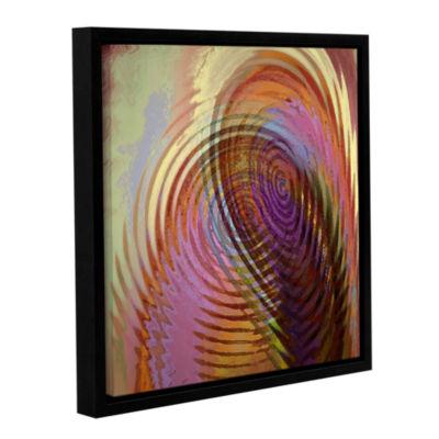 Brushstone Palette Vortex Gallery Wrapped Floater-Framed Canvas Wall Art