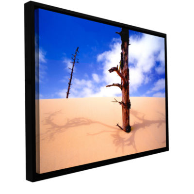 Brushstone Oregon Dunes Noon Gallery Wrapped Floater-Framed Canvas Wall Art