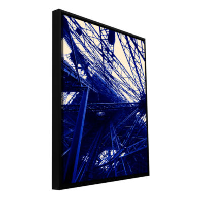 Brushstone Paris (Eiffel Tower) Gallery Wrapped Floater-Framed Canvas Wall Art