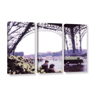 Brushstone Paris Rain 3-pc. Gallery Wrapped CanvasWall Art