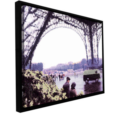 Brushstone Paris Rain Gallery Wrapped Floater-Framed Canvas Wall Art