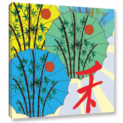 Brushstone Parasol Parade Gallery Wrapped Canvas Wall Art