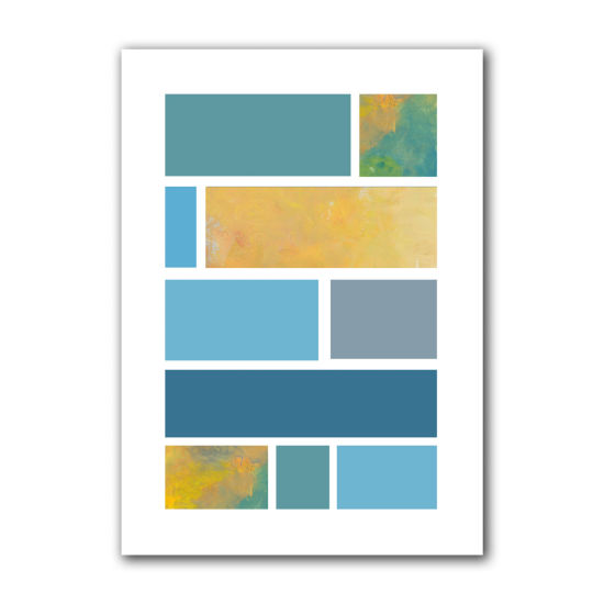 Brushstone Paint Swatches II Canvas Wall Art