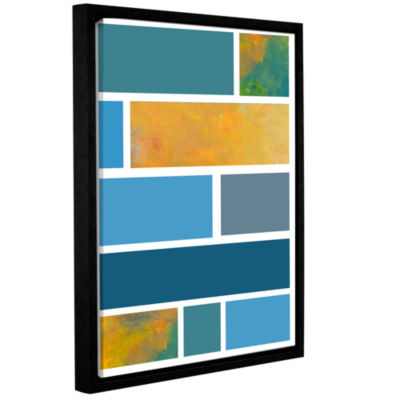 Brushstone Paint Swatches II Gallery Wrapped Floater-Framed Canvas Wall Art