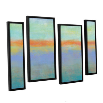 Brushstone Outer Limits 1 4-pc. Floater Framed Staggered Canvas Wall Art