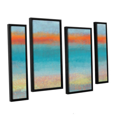 Brushstone Outer Limits 2 4-pc. Floater Framed Staggered Canvas Wall Art