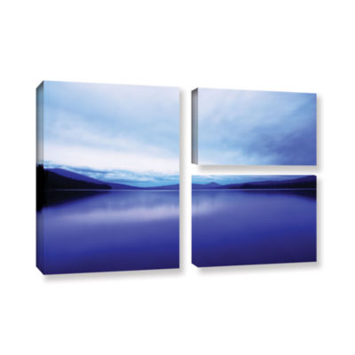 Brushstone Oregon-Odell Lake 3-pc. Flag Gallery Wrapped Canvas Wall Art
