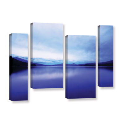 Brushstone Oregon-Odell Lake 4-pc. Gallery WrappedStaggered Canvas Wall Art