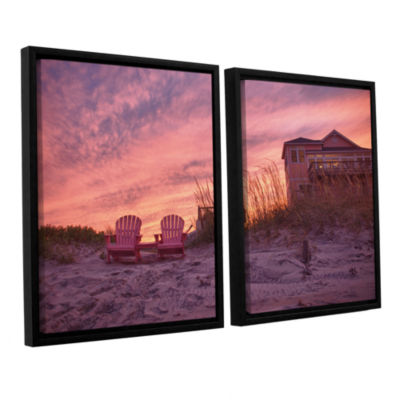 Brushstone Outer Banks-Pink 2-pc. Floater Framed Canvas Wall Art