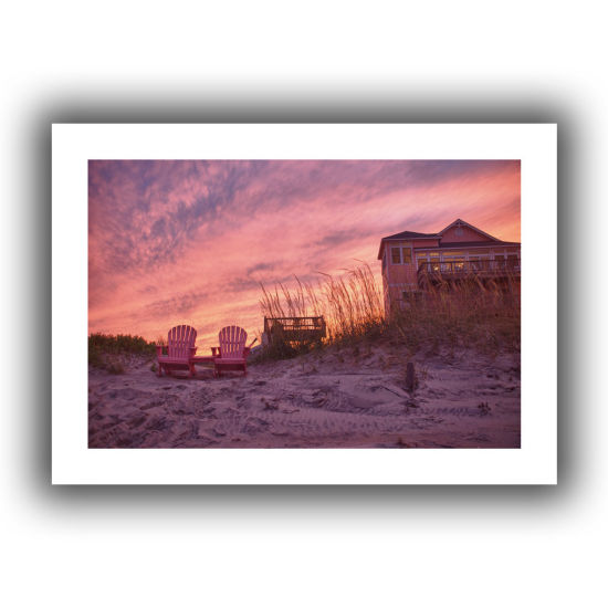 Brushstone Outer Banks-Pink Canvas Wall Art