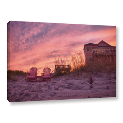Brushstone Outer Banks-Pink Gallery Wrapped CanvasWall Art