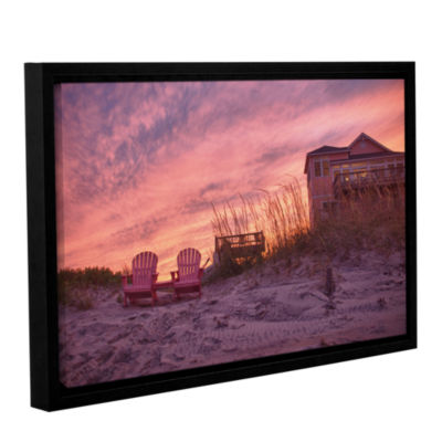 Brushstone Outer Banks-Pink Gallery Wrapped Floater-Framed Canvas Wall Art