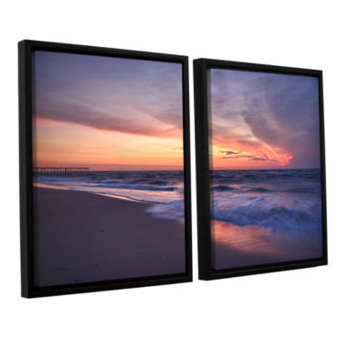 Brushstone Outer Banks Sunset I 2-pc. Floater Framed Canvas Wall Art